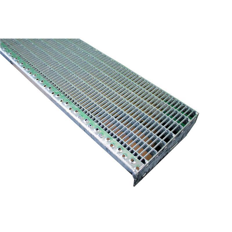 Einpress Industrie Gitterroststufe Treppenstufen MW 30x30 verzinkt engmaschig