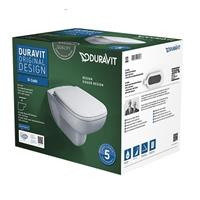 Duravit D-Code D Code Wandtiefspül WC Kombipack mit Sitz softclose Set weiß 45700900A1