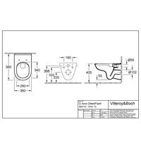 Villeroy & Boch O.Novo Wandtiefspül WC directflush m Sitz CeramicPlus Tiefspüler