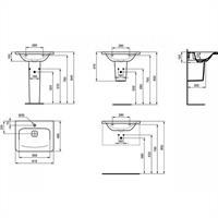 Ideal Standard Tonic II Möbelwaschtisch Waschtisch Waschbecken 615mm weiß K083701