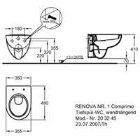 Keramag Renova Nr.1 Wandtiefspül-WC Comprimo 48cm weiß Nr. 203245000