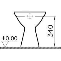 Vitra Standtiefspül WC Abgang innen senkrecht Haro Baltic Sitz weiß Beschichtung