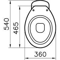 Vitra Standtiefspül WC Abgang innen senkrecht Toilette weiß mit Hygiene Glasur