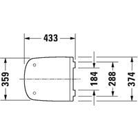Duravit Durastyle WC Sitz Klodeckel WC-Sitz ohne Absenkautomatik weiß 0063710000