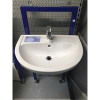 Waschtisch 60cm Waschbecken Handwaschbecken mit Beschichtung weiß