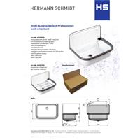 HS Stahl-Ausgußbecken mit Ablauf emailliert weiß Nr. 802000