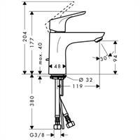 Hans Grohe Focus 100 Waschtischmischer chrom Nr. 31607000
