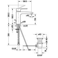 Duravit B.1 Waschtischmischer Einhebelmischer Armatur B11020001010 chrom
