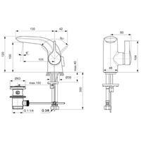 Ideal Standard Melange Piccolo Waschtischarmatur Waschtischmischer Einhebel A6117AA