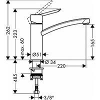 Hans Grohe Focus S Küchenarmatur chrom Nr. 31786000