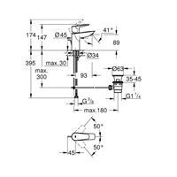 Grohe BauEdge Waschtischbatterie Einhandmischer Waschtischarmatur S-Size chom 23328001
