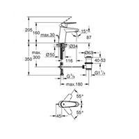 Grohe Eurodisc C Waschtischmischer Waschtischbatterie Armatur chrom Nr. 33190002