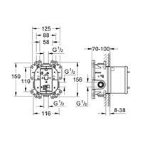 Grohe Rapido E Unterputz Einbaukörper Grundkörper Universal Einhandmischer 35501000