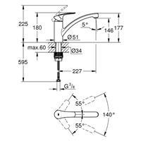 Grohe Eurosmart Spültischmischer Küchenarmatur Spültischbatterie chrom 33281003