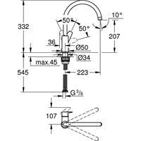 Grohe Bauedge Spültischbatterie Küchenarmatur Armatur 31367001