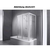Hüppe Combinett 2 Badewannenabtrennung Faltwand Kunstglas 3 teilig silber