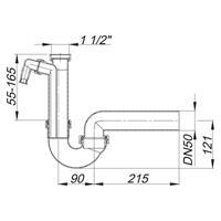 Dallmer PP Siphon Sifon Röhrengeruchverschluss Röhrensifon weiß 020222