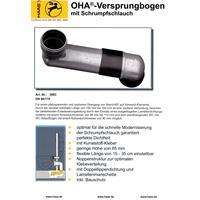 Haas WC-Versprungbogen DN90/110 waagerecht Nr. 3983