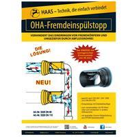 Haas Rattenstop Fremdeinspülstopp DN90 Nr. 3328