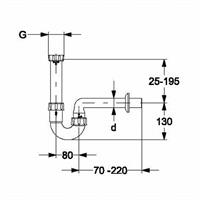"Haas PVC-Röhrensifon Waschtisch 1 1/4"" x 32mm Nr. 4632"