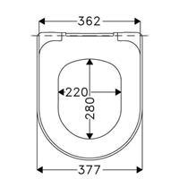 Haro Tube WC Sitz mit Absenkautomatik softclose passend zu Architectura Subway 1 weiß