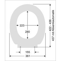 Pagette/Delphis Basic Plus WC-Sitz mit Deckel weiß