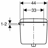 Geberit 127 Spülkasten tiefhängend 6-9 Liter weiß Nr. 127.000.11.1