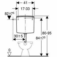Geberit 140 Spülkasten tiefhängend 6-9 Liter weiß Nr. 140.300.11.1
