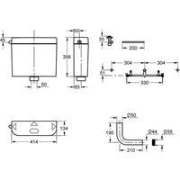 Grohe WC Spülkasten Aufputz 6-9 Liter weiß 37791SH0