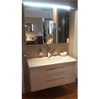 Burgbad Möbelset Waschtisch m. Unterschrank und Spiegelschrank weiß o. anthrazit