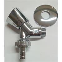"""HS Geräteschrägsitzventil 1/2"""" mit Rückflußverhinderer chrom Nr. 92220015"""