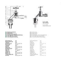 """HS Auslaufventil 1/2"""" mit Rückflussverhinderer chrom Nr. 92200015"""