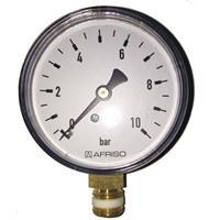 "Rohrfeder-Manometer 1/4"" - Ø63 mm senkrecht Nr. 63514"