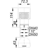Dallmer DallVent Mini Rohrbelüfter DN40/50 Nr. 850416