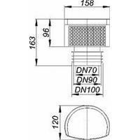 Dallmer DallVent Maxi Rohrbelüfter DN70/100 Nr. 850409