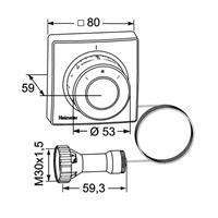 Heimeier Thermostatkopf F Ferneinsteller mit Fühler Kapillarrohr 2m Thermostat Kopf weiß