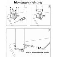 4-er Set Möbelfüße Ø 60mm Chrom oder Edelstahl-Optik Tischbeine Tischfüße 710mm