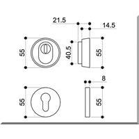 Edelstahl Schutzrosette Schutzrosettenpaar Zylinderabdeckung  Sicherheitsrosette