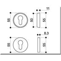 Edelstahl Schutzrosette Schutzrosettenpaar /Sicherheitsrosette ohne Zylinderabdeckung