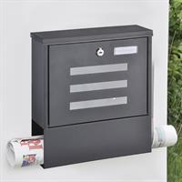 Briefkasten Metall schwarz