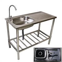 Multifunktions- Waschtisch, Gartenspüle, Edelstahl
