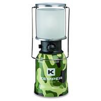 Kemper Camping Gaslampe im Camouflage Design mit Piezo Zündung