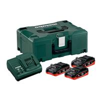 Metabo PICK+MIX Basic-Set 18 V, 3x 3,1 Ah LiHD