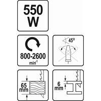 Yato Stichsäge YT-82270 Pedelhubstichsäge 550 Watt mit Absaugadapter