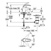 Grohe Eurosmart Waschtischbatterie Waschtischmischer Armatur chrom 3292500E