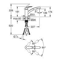 Grohe Eurosmart Einhand Spültischbatterie Küchenarmatur Küchenbatterie 30305001