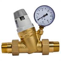 """Caleffi Druckminderer 1/2"""" Druckregler für Wasser mit Manometer"""