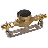"""Wasserzähler QN 2,5 m³ geeicht 30°C 190 mm mit Bügel 1"""" Halteplatte"""