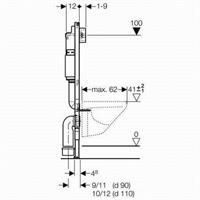 Geberit Duofix Basic WC Vorwandelement Betätigung Delta 51 weiß mit Schallschutz