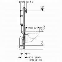 Geberit Duofix Basic UP100 Universal Wand WC Tiefspüler Delta 51 mit Sitz softclosing